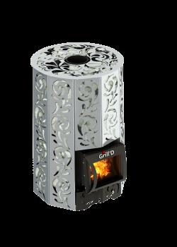 Банная печь Grill'D Violet Steel Short (Жадеит 100 кг)