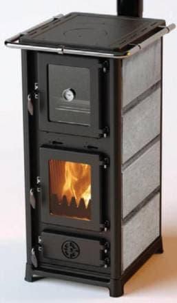 Дровяная печь-камин с плитой и духовкой MBS Olympia Stone
