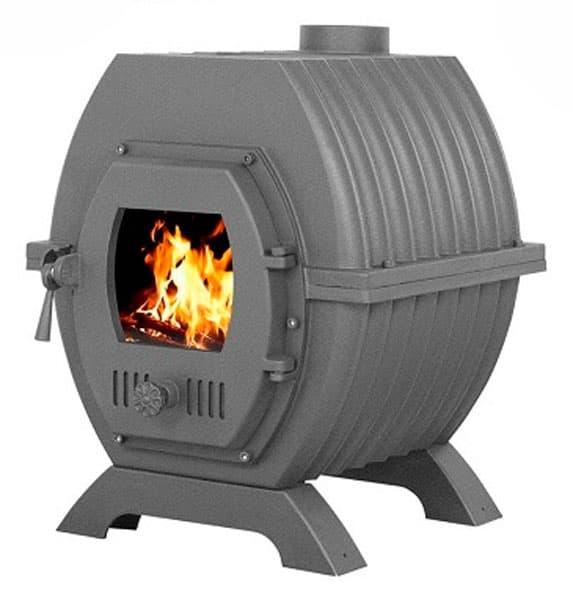 Отопительная чугунная печь «Везувий Триумф 180 с Т/О» (теплообменником)