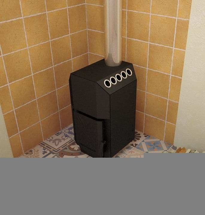 Печь отопительная «Теплодар ТОП-модель 200» (дверца сталь)