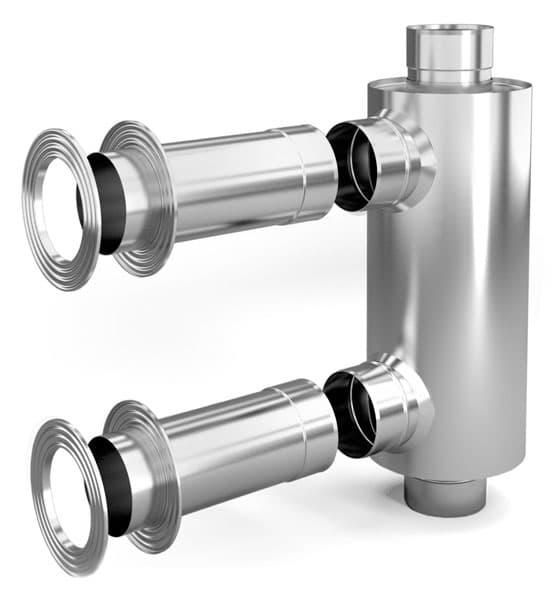 Отопитель натрубный -1 «ТMF» d 115, 1/0,5 мм, 1 м, нерж/нерж