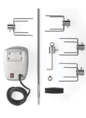 Вертел с 4-мя зажимами и электромотором для газовых грилей Napoleon-485/495/500