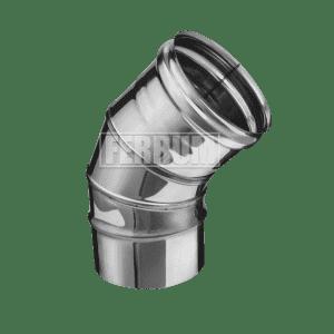Колено Ferrum 135° (3 секции) 0,5 мм