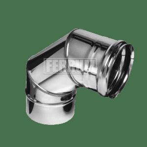 Колено Ferrum 90° (3 секции) 0,8 мм