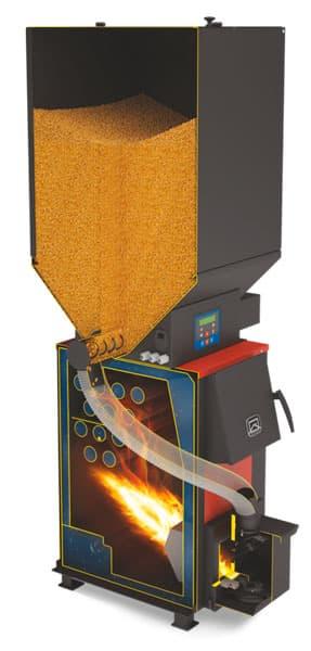 Отопительный котел «Теплодар Куппер ОК 15» с пеллетной горелкой АПГ25