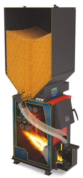 Отопительный котел «Теплодар Куппер ОК 9» с пеллетной горелкой АПГ25