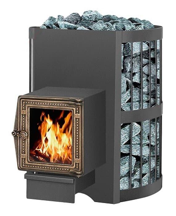 Банная печь «Везувий Скиф Стандарт 16» (ДТ-4С) 2016 с теплообменником