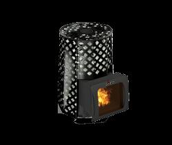 Банная печь Grill'D Violet Romb Short Window Max (Жадеит 100 кг)