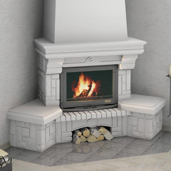 Каминная облицовка «Мета Ария 700» угловая, серия «Музыка огня»