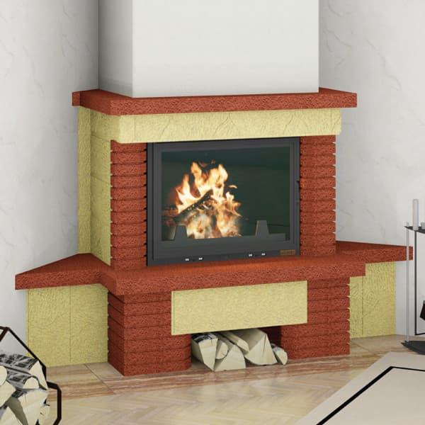 Каминная облицовка «Мета Аккорд 700» угловая, серия «Музыка огня»