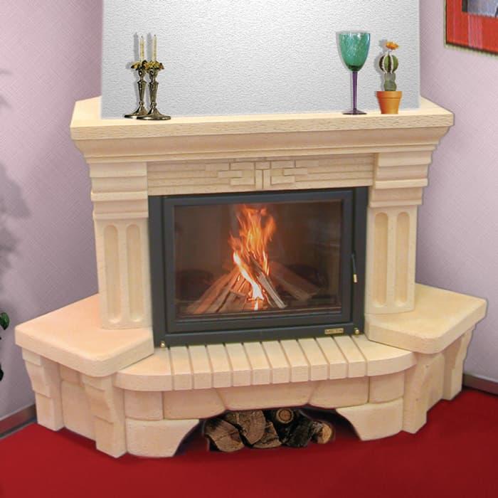 Каминная облицовка «Мета Октава 700» угловая, серия «Музыка огня»