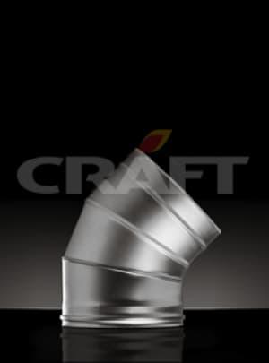 CRAFT сэндвич-отвод 45°, 0,5 зеркало, изоляция 50мм