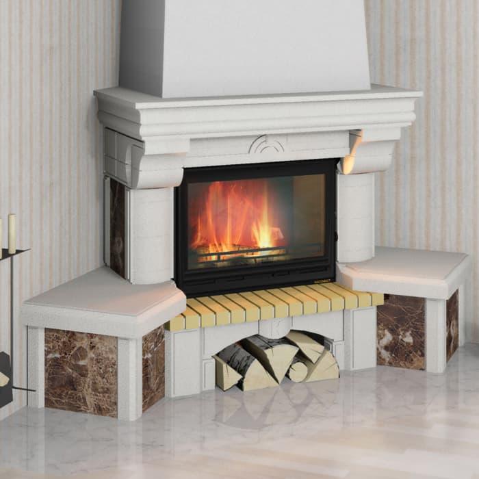 Каминная облицовка «Мета Элегия 700 Имерадор» угловая, серия «Музыка огня»