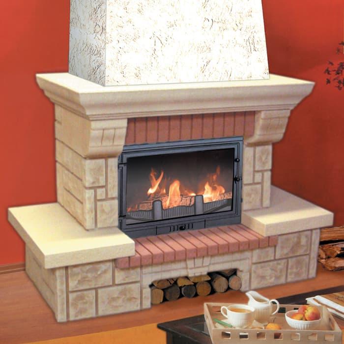 Каминная облицовка «Мета Брио 700» пристенная, серия «Музыка огня»