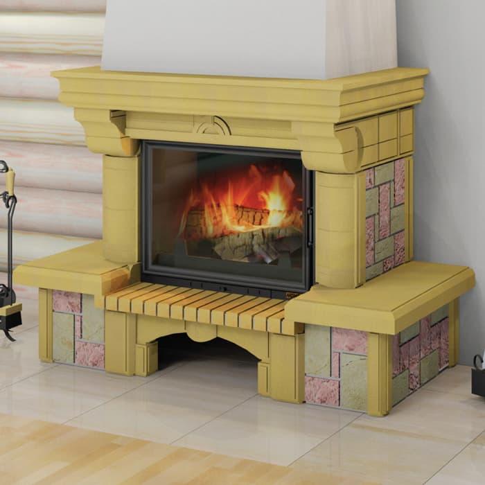 Каминная облицовка «Мета Ноктюрн 700 Рустик» пристенная, серия «Музыка огня»