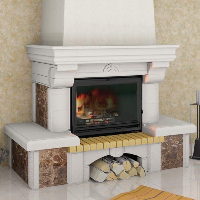 Каминная облицовка «Мета Ноктюрн 700 Имерадор» пристенная, серия «Музыка огня»