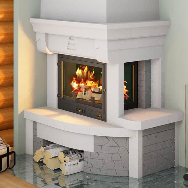 Каминная облицовка «Мета Аллегро 700» правая, угловая, серия «Музыка огня»