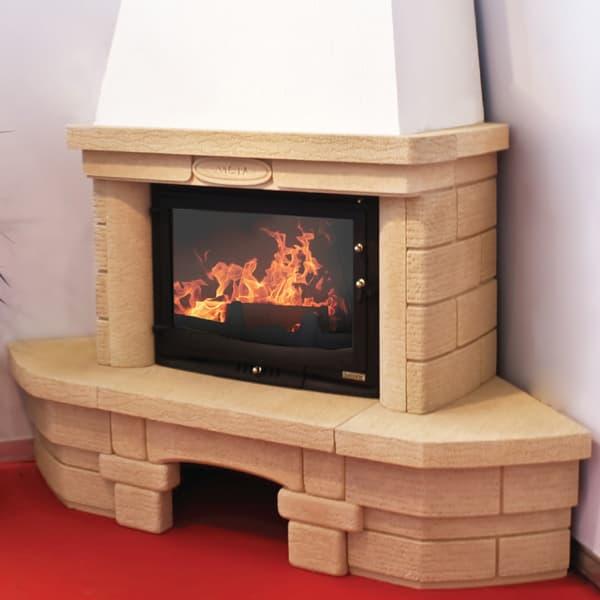Каминная облицовка «Мета Альт 700» угловая, серия «Музыка огня»