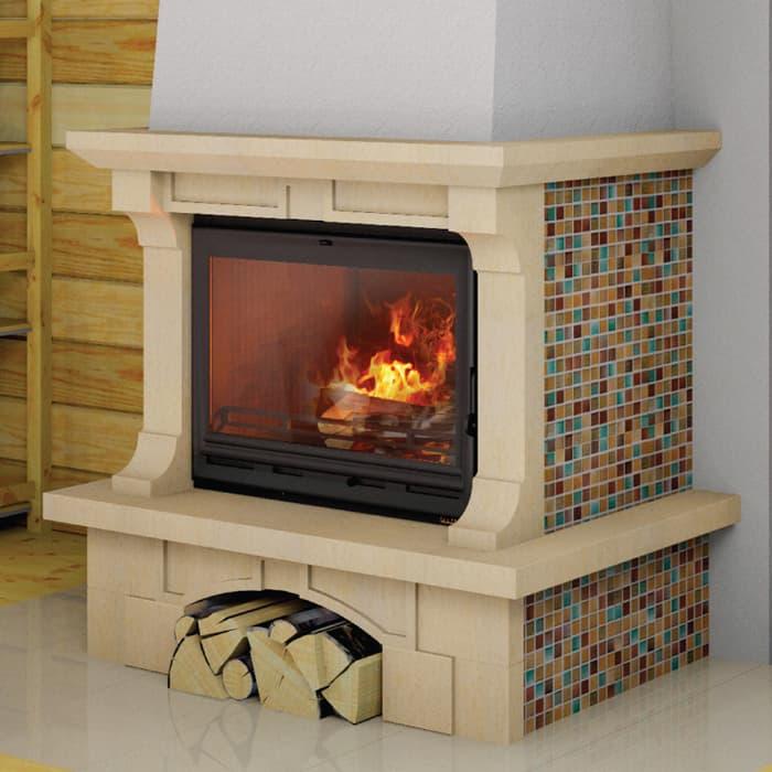 Каминная облицовка «Мета Лира 700» пристенная, серия «Музыка огня»