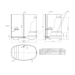 Купель овальная из дуба BentWood 0,76х1,16