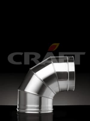 CRAFT сэндвич-отвод 87°, 0,8+0,5 зеркало, изоляция 50мм