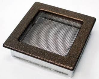 Решетка Kratki 17x17 черная медь пористая