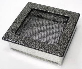 Решетка Kratki 17x17 черная хром пористая