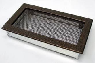Решетка Kratki 17x30 черная медь пористая