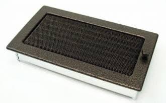 Решетка Kratki 17x30 черная медь пористая с жалюзи