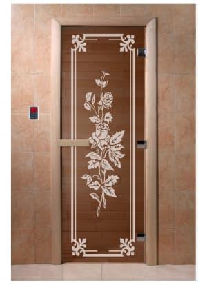 """Дверь """"Розы бронза"""""""