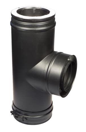 Тройник 90° Schiedel Permeter d150/200, черный