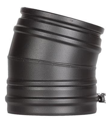 Отвод 15° Schiedel Permeter d150, черный