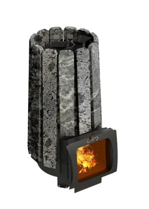 Банная печь Grill'D Cometa 180 Vega Short Window Max Stone
