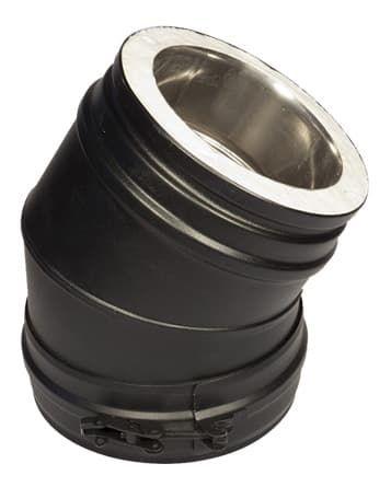 Отвод 45° Schiedel Permeter d200, черный