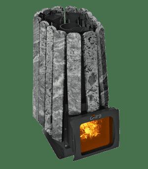 Банная печь Grill'D Cometa 350 Vega Short Window Max Stone