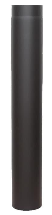 Дымовая труба КПД d 120, L 1000 мм, 2 мм черный