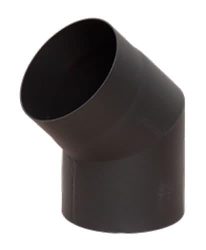 Отвод КПД 45° d 120, 2 мм черный