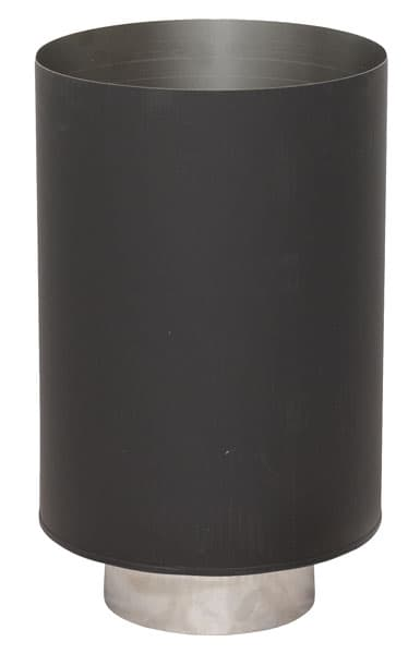 Стакан декоративный КПД d 120/200, 0,7 мм + нерж 1 мм черный