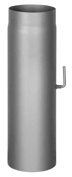 Шибер КПД d 150, L 500 мм, 2 мм черный