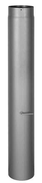 Шибер КПД d 150, L 1000 мм, 2 мм черный