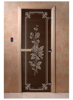 """Дверь """"Розы черный жемчуг"""""""