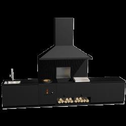 """Банная печь """"Атмосфера"""" с сеткой из нержавеющей стали"""