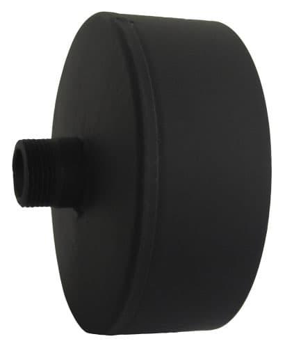 Заглушка с конденсатоотводом КПД d 200, 0,7 мм черный