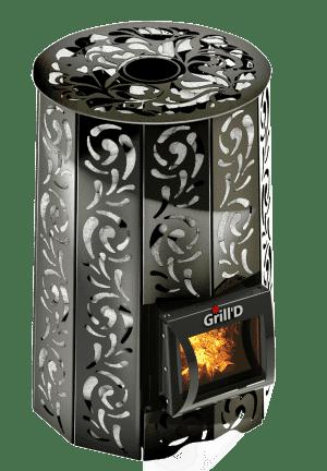 Банная печь Grill'D Violet Short (Жадеит 80 кг)