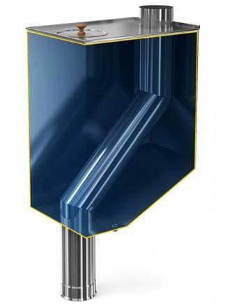 Бак самоварного типа «Теплодар бак-70» со смещенной трубой на 70 л d115