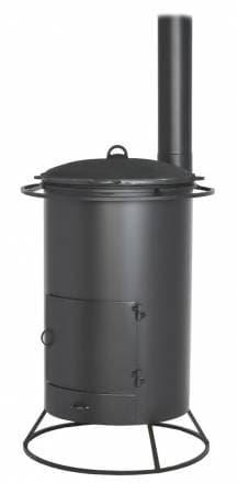 Печь под казан «Везувий» 25 л с трубой