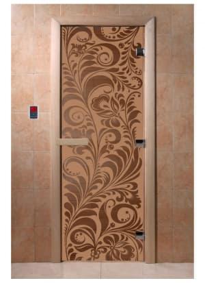"""Дверь """"Хохлома бронза матовая"""""""