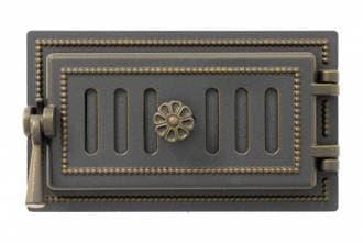 Дверка поддувальная «Везувий 236» герметичная, бронза
