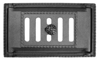 Дверка каминная поддувальная крашеная «Литком» 250х140 ДП-2А