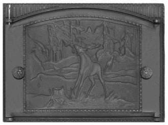Дверка каминная крашеная «Литком» 375х300 ДК-2Б RLK 335